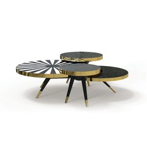 """HOMMÉS STUDIO'S """"Arcadia"""" table is a balanced blend of Art Deco syle re-interpreted with modern materials. hommes.studio"""