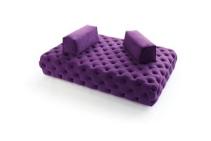 "Designed for easy socializing, nathan anthony's ""Cielo"" sofa features ""floating"" back bolsters. nafurniture.com"
