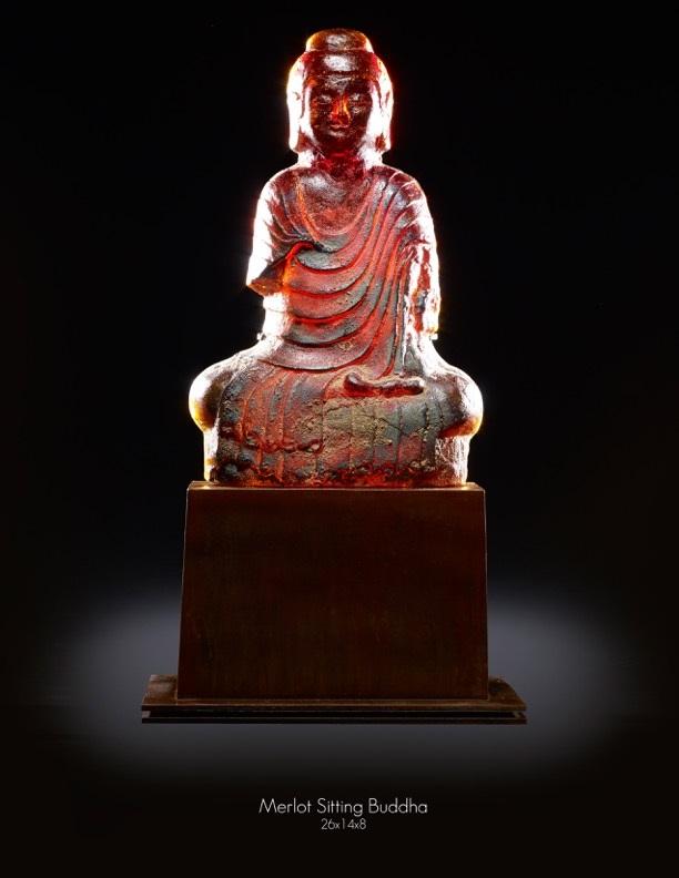 Merlot-Sitting-Buddha-27x14x8