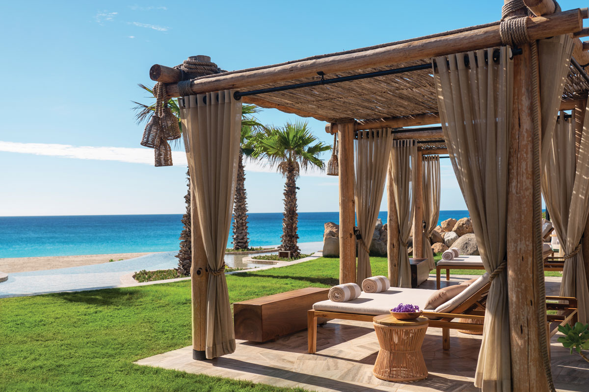 "The adults-only sanctuary Equis, at the edge of the dunes, is a riff on the ""X"" that marks the spot — in this case, a relaxed setting to dine, imbibe and soak in the sun."