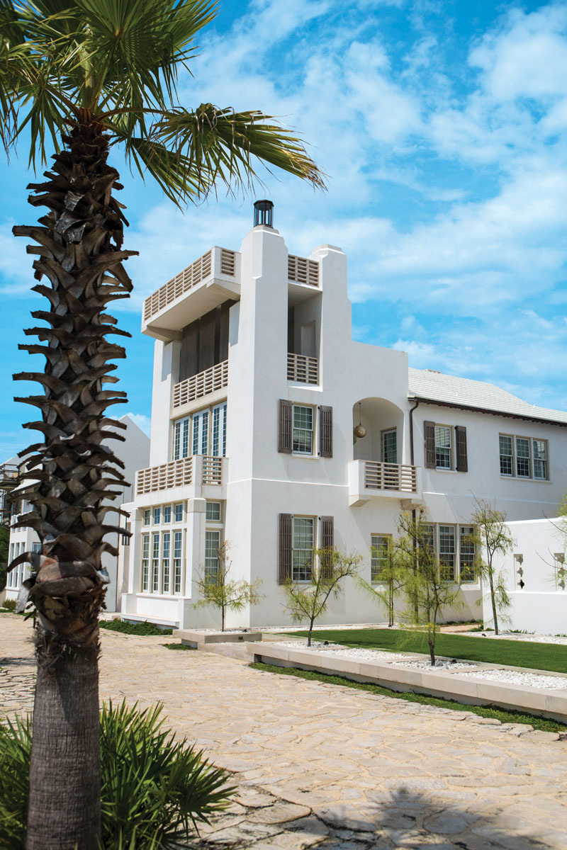 The Young residence is on a pedestrian path with a direct view of the Gulf of Mexico.