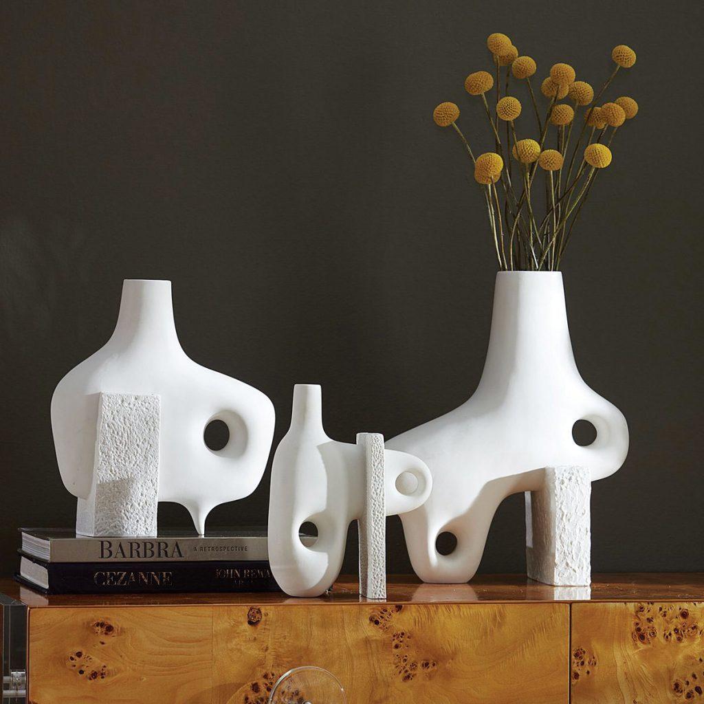 unglazed porcelain Paradox Vases from Jonathan Adler, Global Influence_FD31-1F
