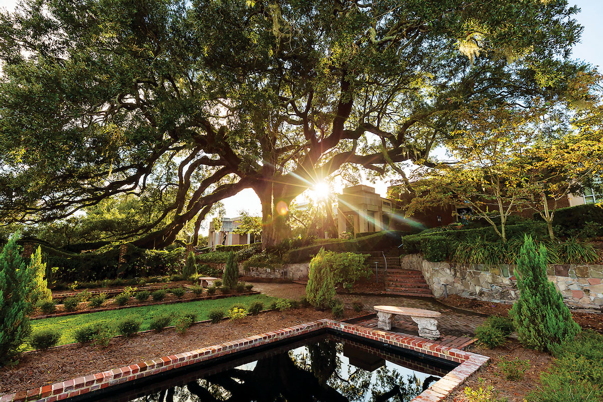 Each of the different gardens—English, Italian, and Olmsted—offers a distinct aesthetic design and balance of color, textures, fragrances, and shade, while preserving the historic character.