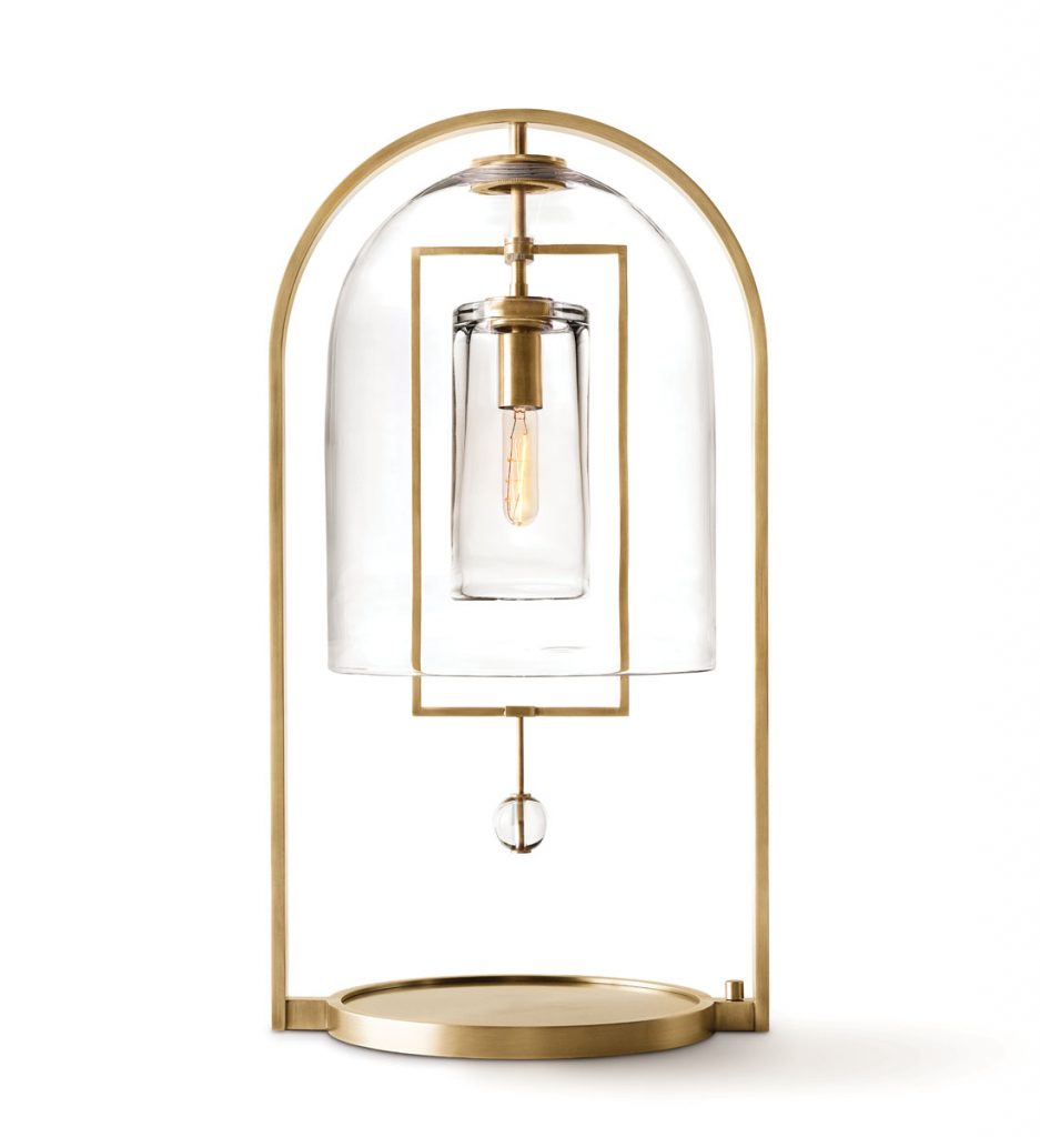 Fulcrum table lamp was designed by Alison Berger for Restoration Hardware, Sculptural Pieces_FD31-1C
