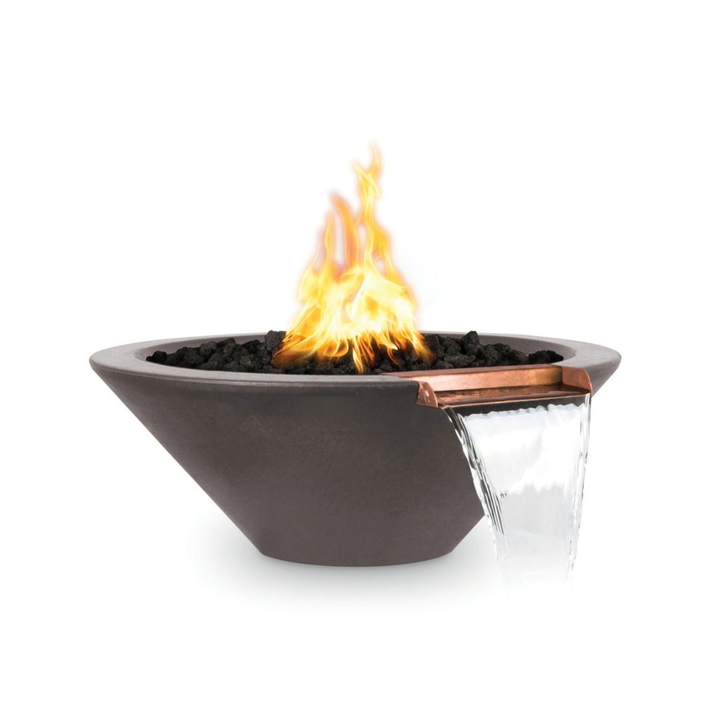Flames and flow mix seamlessly in the Cazo Fire and Water Bowl from the Outdoor Plus