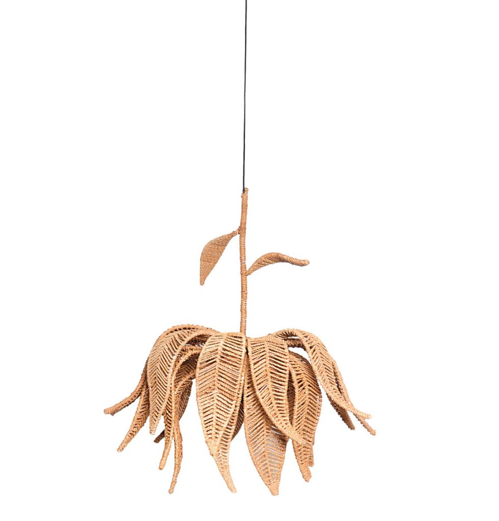 Made with indigenous materials from the Phillipines and Southeast Asia, Jo-Liza's Lotus Chandelier offers organic sophistication.Wicker & Rattan_FD31-2C