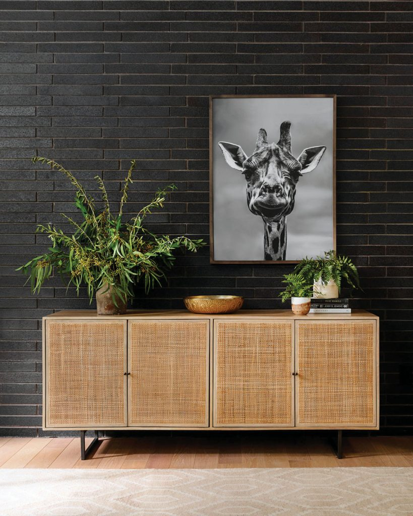 Rich with mid-century styling, this entertainment console by Asher + Rye offers discreet storage behind its woven cane doors.Wicker & Rattan_FD31-2B