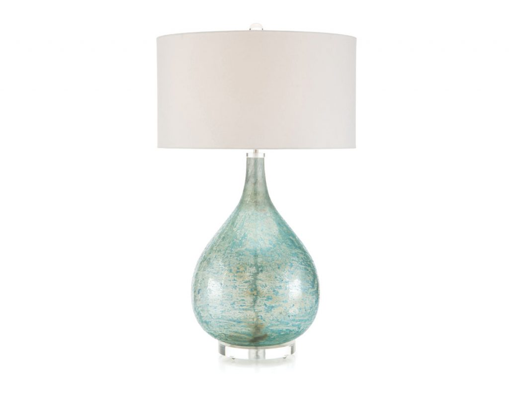 Shed some sophisticated light on your seaglass with this Deep Ocean Blue lamp from elegant strand. elegantstrand.com Sea Glass_FD31-2D
