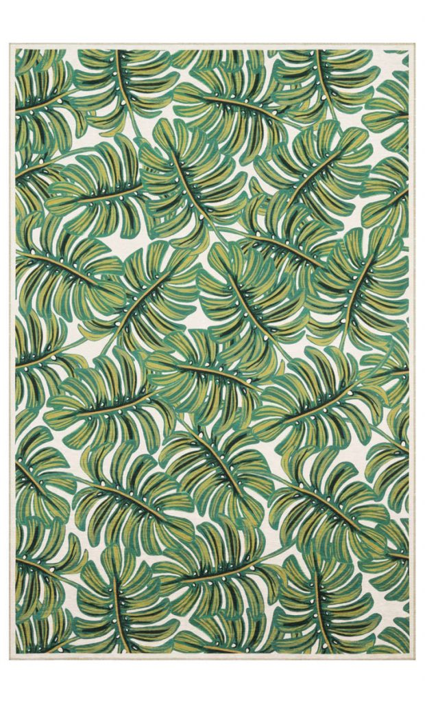 Get lost in greenery with this Turkish loomed rug from Rifle Paper Co. x LOLOI, Foliage Inspired_FD31-2D