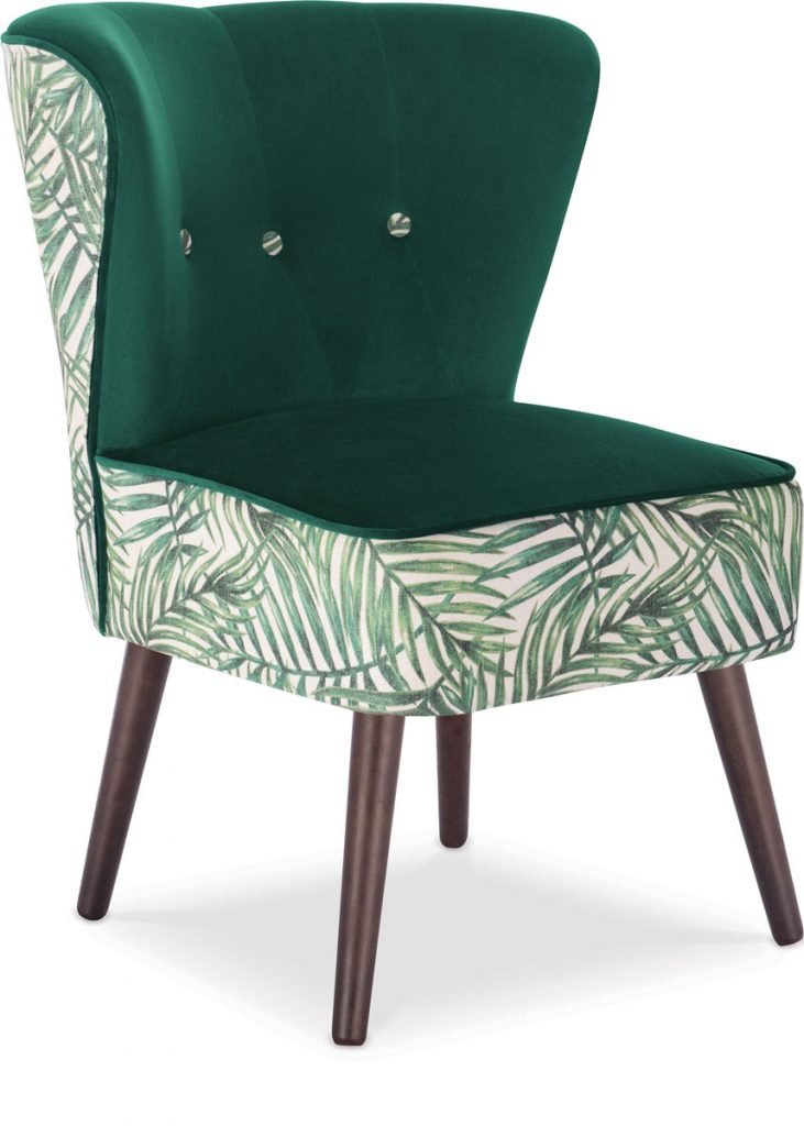 The Penelope accent chair in Green Leaf from Cult Furnitureinvites you to grab a seat in style, Foliage Inspired_FD31-2F