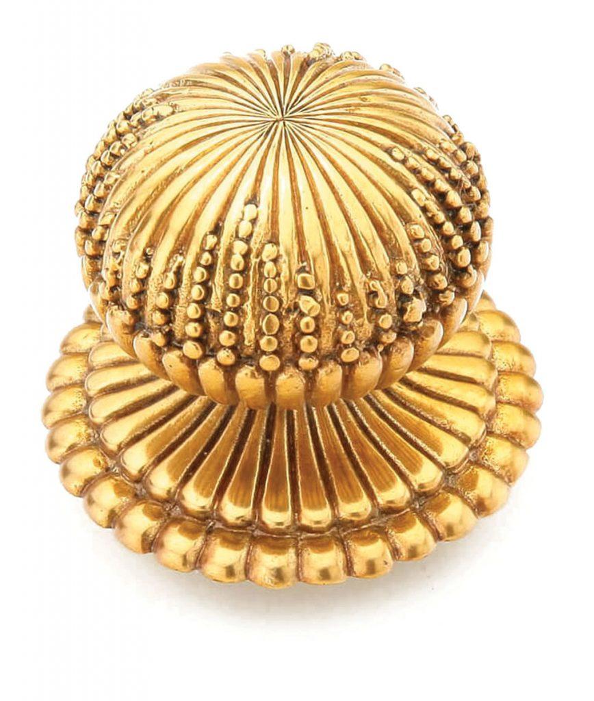 The Sonata knob from Schaub is inspired by mushroom shapes.Jewel-Like Hardware_FD31-2D